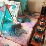 kids teepee sleep over mermaid theme